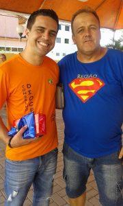 Confrades Wandemberg Medeiros e José Waltair Neves, amigos em MG