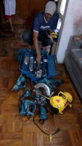 Tiago e os novos equipamentos de trabalho