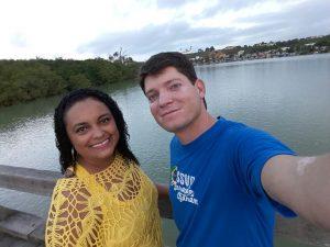 Consócia Glaucia Mamedio (Conferência Nossa Senhora Aparecida - Fundão/ES) e confrade Herbert Santos (Conferência Nossa Senhora das Dores - Lagoa da Prata/MG)
