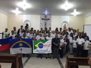 Chegada da relíquia ao CM Maceió. Ela estava no CM Olinda e Recife